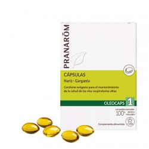 Pranarom Oleocaps 1 Nariz-Garganta 30caps